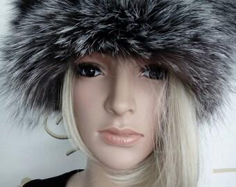 New!Natural,Real Silver Fox Fur HAT!!! Новая шапка из лиси!