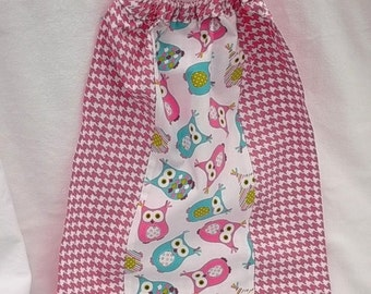 """""""TOWEL elastic canteen for child... reversible cotton""""Owls"""""""""""