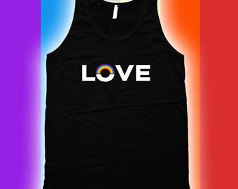 Love -  Gay Pride Ally t-Shirt, Gay Pride Clothing, pride, LGBT, Mens Womens Shirts, Lgbt shirts, Fitness tank top CT-459