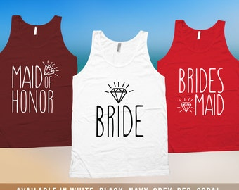 Bachelorette Tank Top - Bachelorette Party Shirts,bridesmaid matching t-shirts,wedding day getting ready tank tops, Bridesmaid tshirt CT-523
