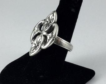 Silverplare Spoon Ring  Size 8   # 1491