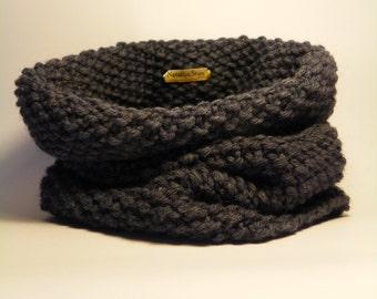 Infinity cowl scarf, knit cowl, winter tube scarf, knitted snood, hand knit, available in many colors, cozy cowl