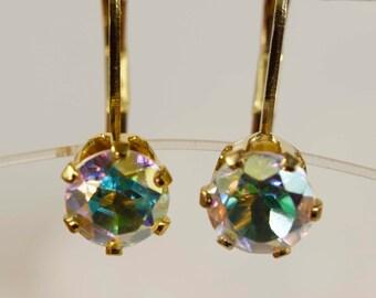 Opalescent Mystic Topaz 14kt Gold Filled Earrings