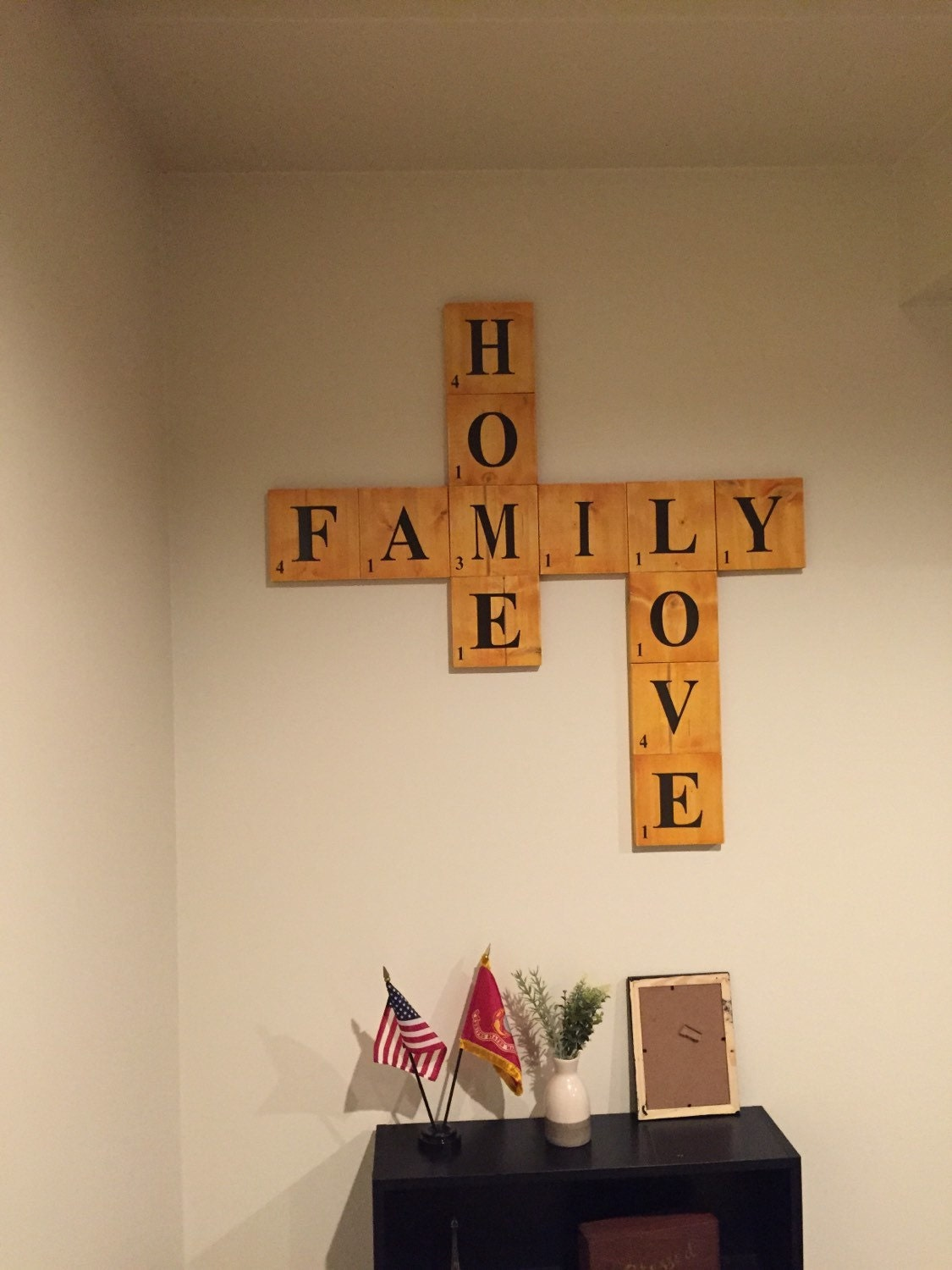 Family Scrabble Home Decor Scrabble Wall Decor Wooden