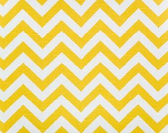 SALE Yellow Chevron Zig Zag Zigzag Home Decor Fabric by Premier Prints