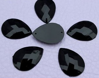 Black Teardrop (sold in pairs)