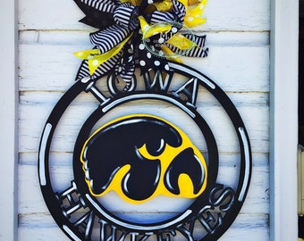 Unique iowa hawkeye decor related items etsy for Iowa hawkeye decor