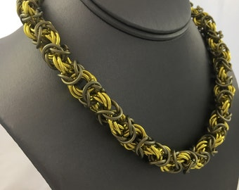 Flowers in Cages Chainmaille Necklace