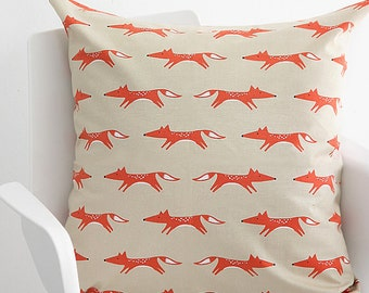Decorative Pillow cover, Red Fox Pillow Case