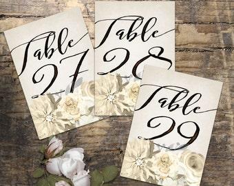 Wedding Table Numbers 21-35, Printable Table Numbers, rustic table number, boho table numbers, Wedding Printable, Wedding Signage,