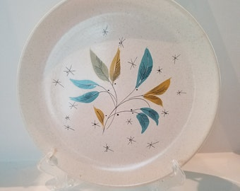 Designer 50s Mid-Century Dinner Plate (3 Available), Designed by Viktor Schreckengost; Free Form by Salem; Daybreak-Turquoise; USA