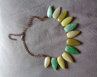 Handmade Necklace Upcycled Vintage Stones