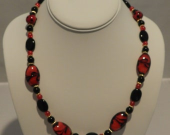 Cute red/black beads