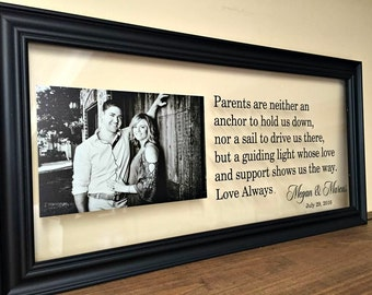 Gifts for Parents, Parent Wedding Gift, Wedding Gifts for Parents,  Rehearsal Dinner, Father of the Bride Gift, Mother of the Groom Gift