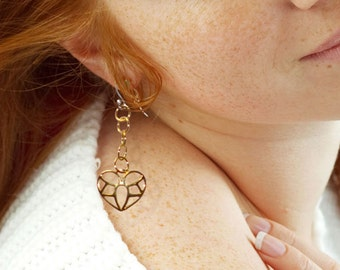 Sweetie Gold-Plated Hanging Earrings