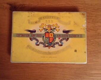 Vintage cigarette tin 1952