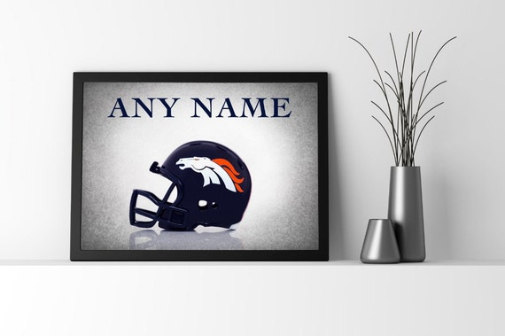 Personalized Denver Broncos Photo Printboys Room By
