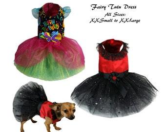 Dog Tutu, Dog Dress Pattern, Dog Clothes Sewing Pattern pdf Tutorial -Fairy Tutu Dress -ALL SIZES- XXSmall to XXLarge