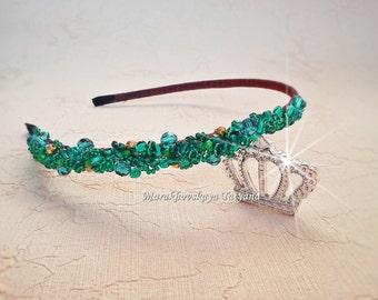 headband with crystal beads
