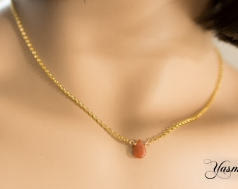 Moonstone drop gold plated on Sterling