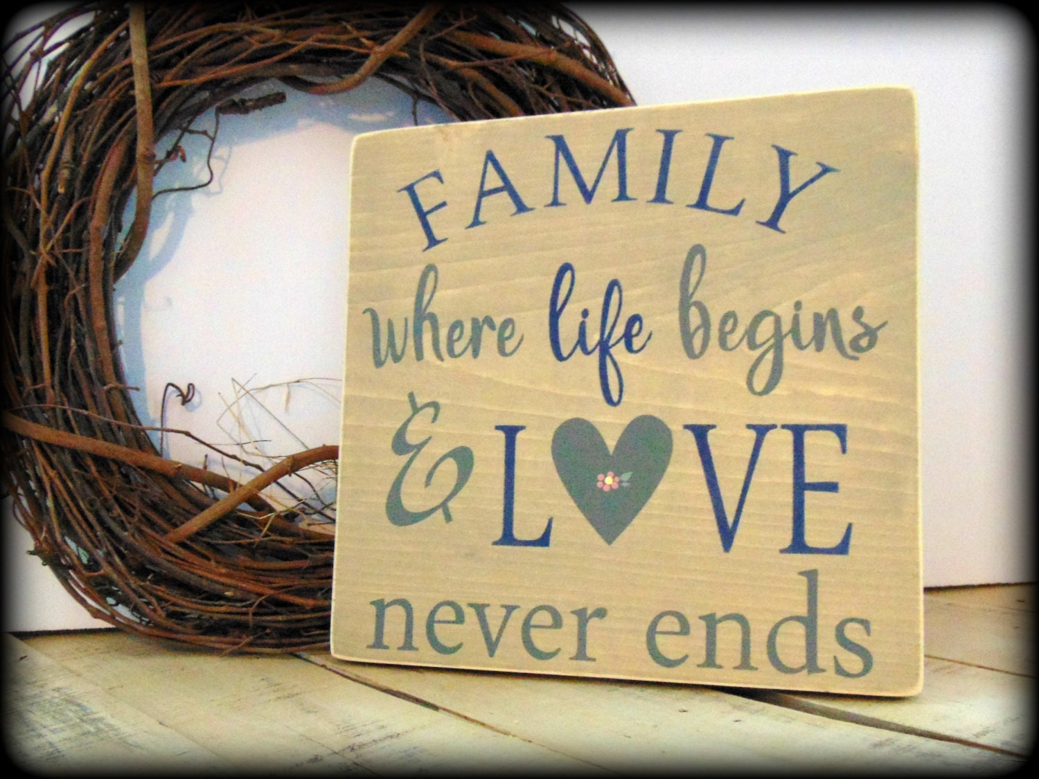Family where life begins and love never ends,Farmhouse Decor,Family ...