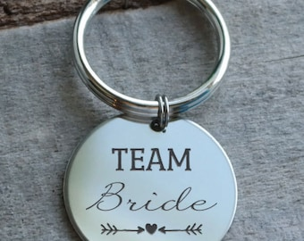 Team Bride Personalized Key Chain - Engraved