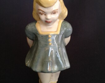 Vintage School Girl Ceramic Figurine