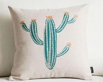 Cactus throw pillow case pillow cover