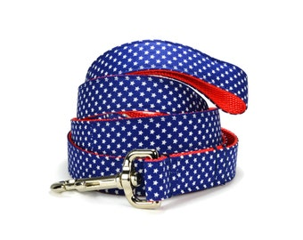 Patriotic Dog Leash, Americana Dog Leash, Dog Leash With Stars, Preppy Dog Leash, Red White Blue Dog Leash, Navy Dog Leash, Star Dog Leash