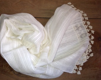 Linen silk scarf