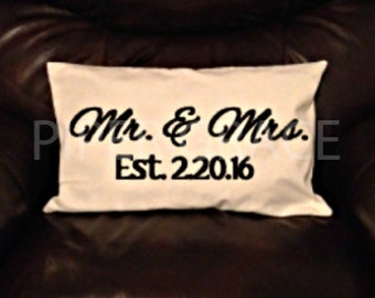 Mr. & Mrs. Pillow Covers, Wedding Gift Ideas, Engagement Gift Ideas, Wedding Gift, Throw Pillow Covers, Decorative Pillow Covers