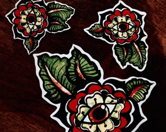 Flower Eye Psychedelic // and cut // Sticker