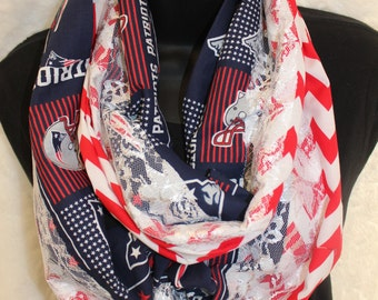 Patriots Infinity Scarf with Lace