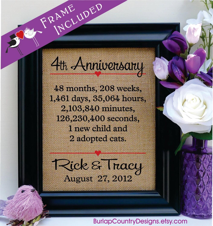 4th Anniversary 4th Wedding Anniversary Gift 4th Anniversary