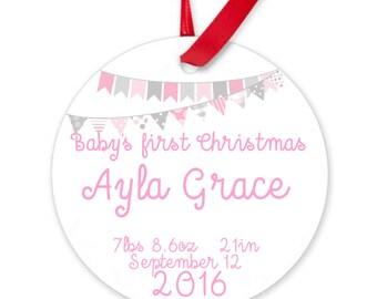 Baby's first Christmas ornament.Christmas ornament.Personalized christmas ornament.Baby's first Christmas.