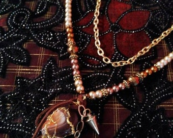 Agate Charming Charm Necklace