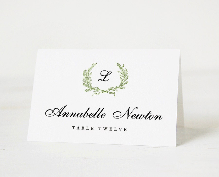 Printable place card template wedding place card name tags for Place card for wedding