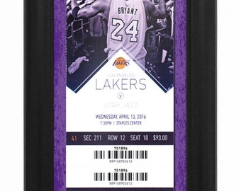 Kobe Bryant Final NBA Game Ticket to History Framed Print - Los Angeles Lakers