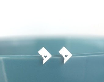 DC Earrings, Washington DC, Washington DC charm, Washington dc stud earrings, District of Columbia studs