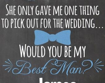 Will you be my best man - will you be one of my groomsmen - digital file - printable - wedding decor - groomsman - groom