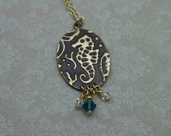 Gold Plated and Vintaj Brass Necklace