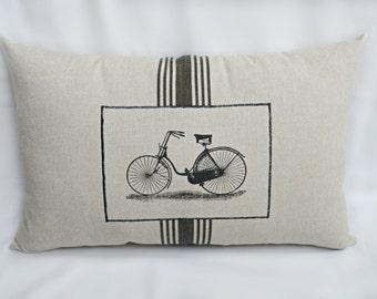 Antique Bicycle Pillow