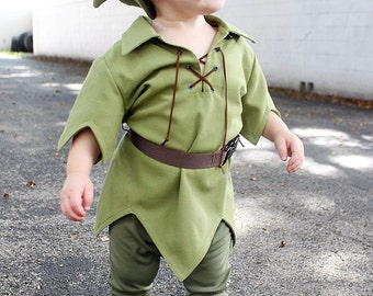 "Adorable Kids SZ 5-14 Peter Pan Costume, ""The New Version"" for Kids, available in sz 5 to 14"