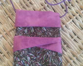 Phone Bags-(Stained Glass Butterflies w/Twist Bow)(Phone not included)