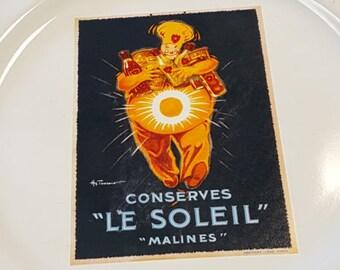 Vintage Poster 4 plate set