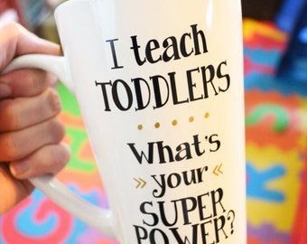 Teacher Coffee Mug // Preschool Teacher Gift // Day Care Teacher Gift // Teacher Appreciation Gift // Teacher Gift under 15