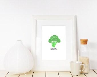 Broccoli lllustration Printable