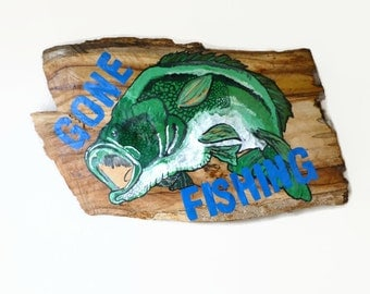 Gone Fishing Sign Fishing Wood Sign Fishing Gift Husband Gift Father S Day