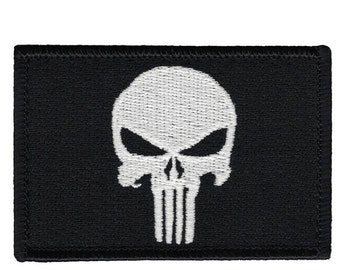 Velcro Punisher Patche - Black & White Flag