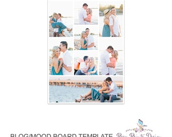 Blog Board & Mood Board - Collage Template - 8.5x11 - Social Media Collage Template - Digital Storyboard - Instant Download - BMB07